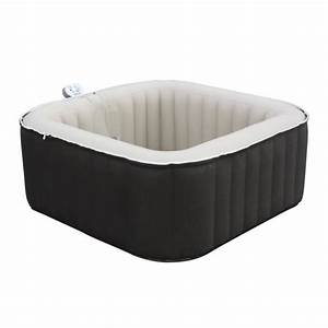 Spa 4 Places : waterhealth dream spa gonflable carr 3 4 places noir et ~ Nature-et-papiers.com Idées de Décoration