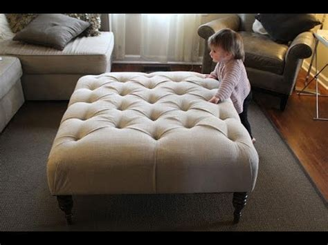fabric ottoman coffee table diy fabric ottoman coffee table