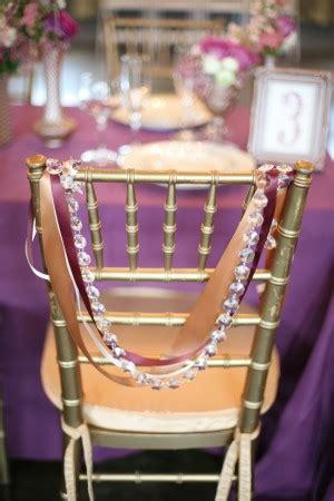 ruban mariage chaise mariage guirlande diamant ruban