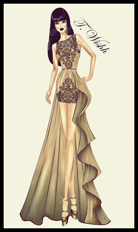 Fashion Design Dresses fashion design dress 5 by twishh on deviantart