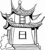 Pagoda Chinese Drawing Architecture Vacation Template Getdrawings Coloring Sketch sketch template