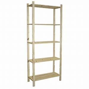 etagere pin 5 tablettes l70 x p30 x h170 cm leroy With produit interieur brut meuble 1 meuble escalier l 170