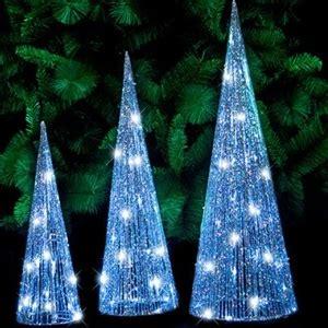 blue and silver cone christmas tree buy 3pc led glitter cone tree silver graysonline australia