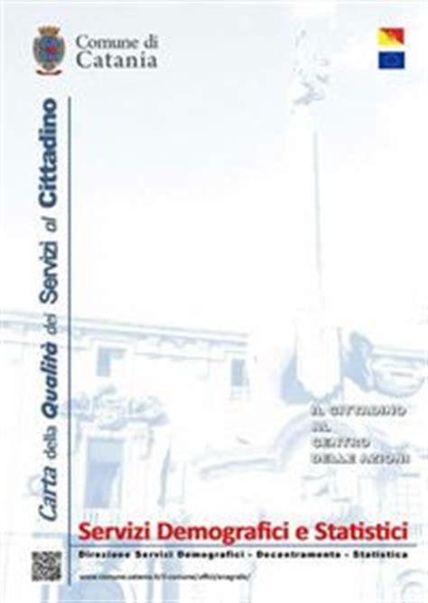 comune di catania ufficio anagrafe servizi demografici decentramento e statistica 187 uffici