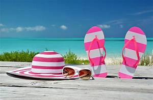 Pictures Flip-flops Hat Sea Summer Glasses