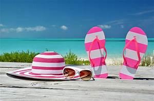Pictures Flip-flops Hat Sea Summer Glasses