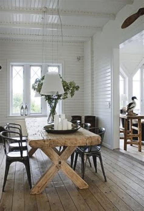 summer house decorated  rough wooden furniture digsdigs