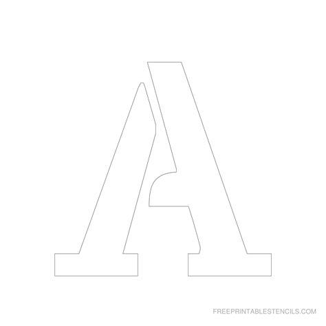 printable 5 inch letter stencils a z free printable stencils