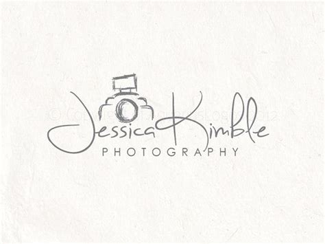 photography logo design sketched camera logo