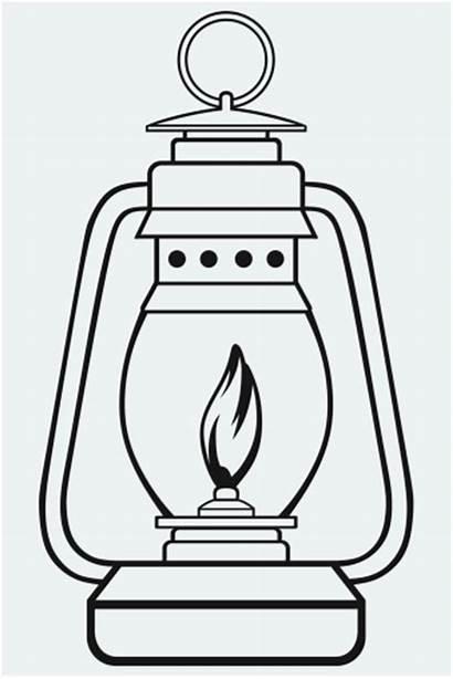 Lantern Lamp Oil Clipart Camping Symbol Dusty