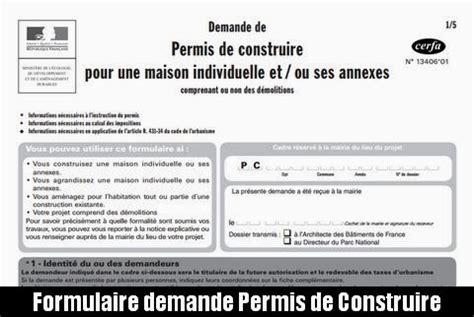 formulaire permis de construire maison individuelle formulaire permis de construire maison individuelle 28 images permis de construire pour
