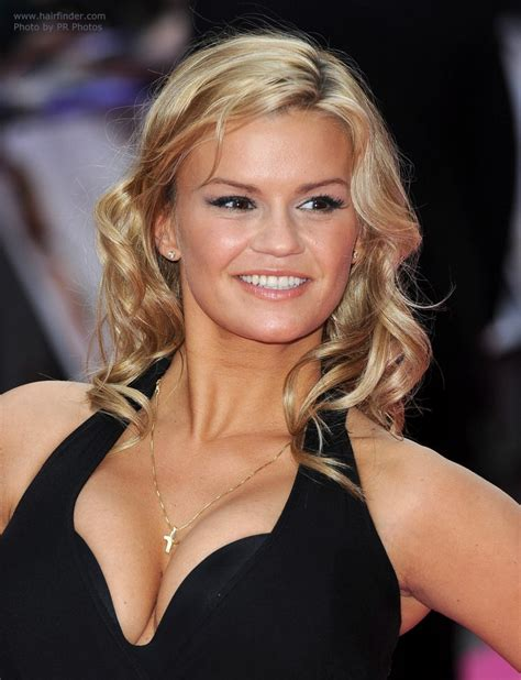 kerry katona wearing  long hair  spirals