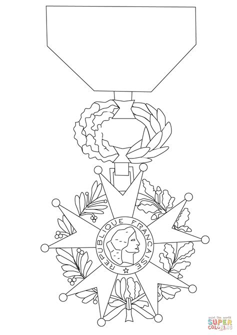 Wapenschild Kleurplaat by Medal Of The Legion Of Honor Coloring Page Free