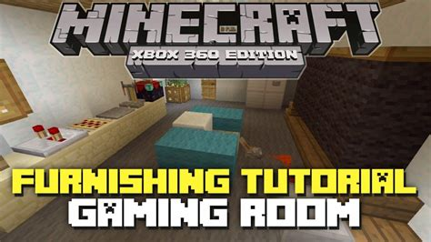 Minecraft Xbox 360 Living Room Designs by Minecraft Xbox 360 House Furniture Ideas And Tutorial