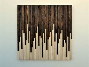 Wall art wood rustic sculpture