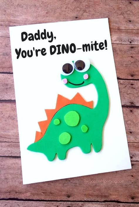 dino mite homemade fathers day card homemade fathers