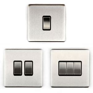 area 1 2 3 wall light switch switches brushed chrome