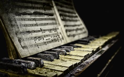 wallpaper piano sheet  dirt  hd picture image