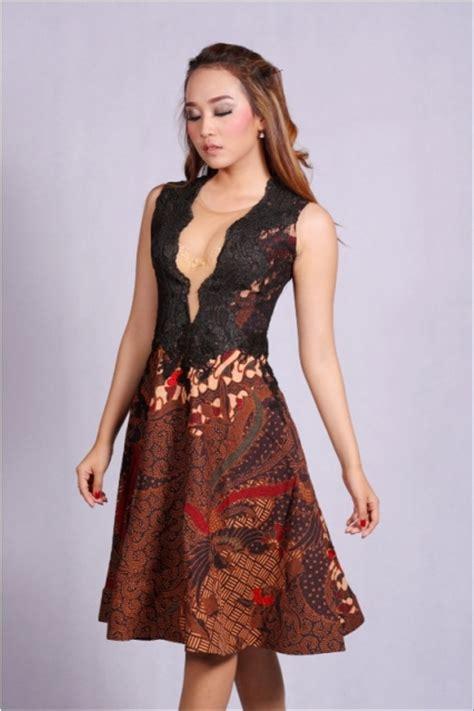 jual batik wanita dress batik pesta victoria doby mdb