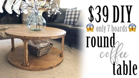 I love the functionality of a round coffee tables. DIY Round Coffee Table - Shanty 2 Chic