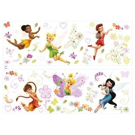 stickers muraux fee clochette stickers disney fairies avec la f 233 e clochette et toutes ses amies d 233 co disney fairies
