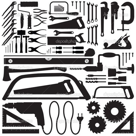 tool silhouettes google search silhouette tools clip art