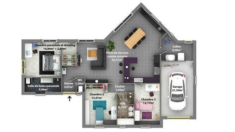 plan 4 chambres plain pied plans de maisons constructeur maison laure