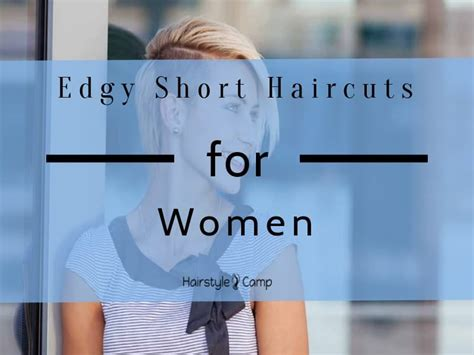 tempting edgy short haircuts  women