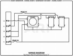Homelite Hu3650 3 650 Watt Generator Parts Diagram For