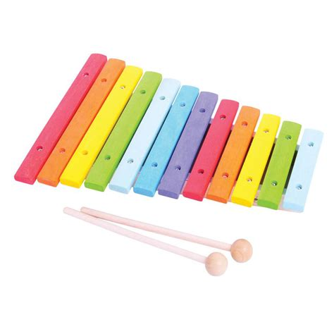 wooden colourful xylophone perfect musical instrument