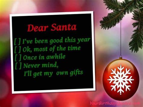 funny christmas quotes santas naughty nice list