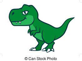 Cute t rex cartoon dinosaur. A cute cartoon t rex ...