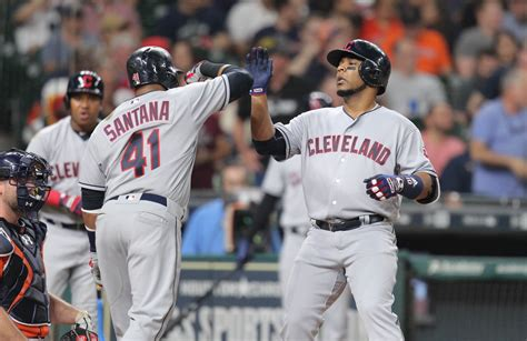 mlb standings indians sweep rangers  gains  astros