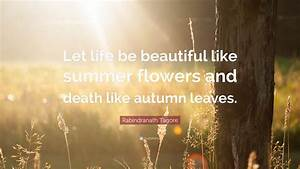Rabindranath Ta... Autumn And Death Quotes