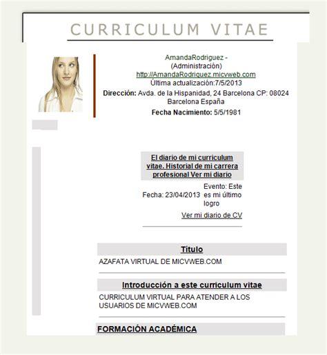 curriculum vitae modelo word modelo de curriculum vitae