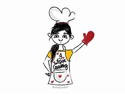 Cooking Cook Dribbble Illustrator Character
