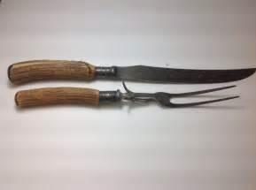 buy kitchen knives vintage meriden cutlery co stag fork knife carving set