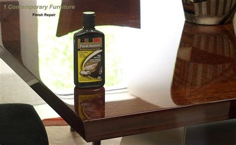 remove scratches  restore high gloss polyurethane finish    dining room