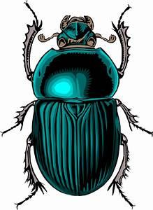 Egyptian Scarab Beetle Clip Art