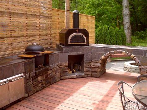 backyard pizza ovens outdoor furniture design  ideas