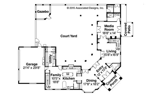courtyard plans house plans with front courtyard garage house design plans