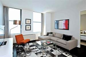 modern rental apartment living room seating furniture With modern living room furniture new york