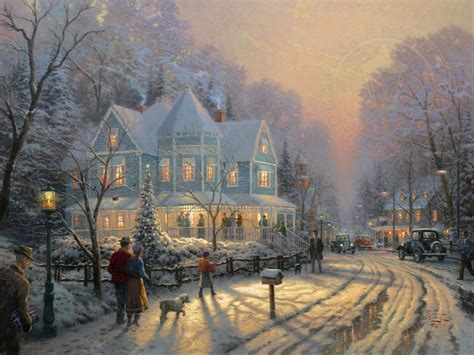 a holiday gathering the thomas kinkade company