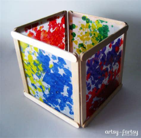 wax paper lantern fun family crafts