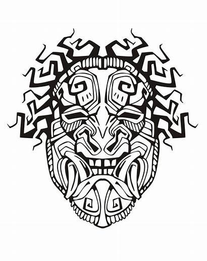 Aztec Mayan Inca Coloring Mask Pages Incas