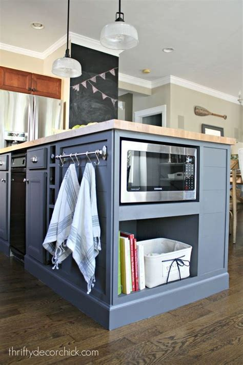 install kitchen island by on how to install a microwave in