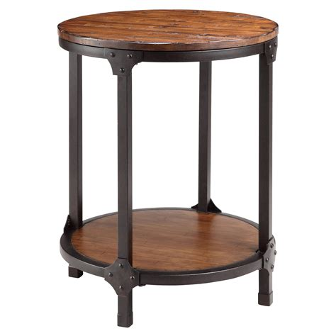 wood and metal end tables stein 12356 kirstin wood and metal end table