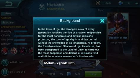 Quote Mobile Legend Hayabusa hayabusa features mobile legends