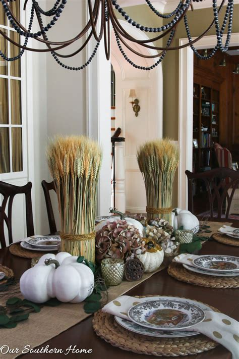 woodland fall tablescape  southern home