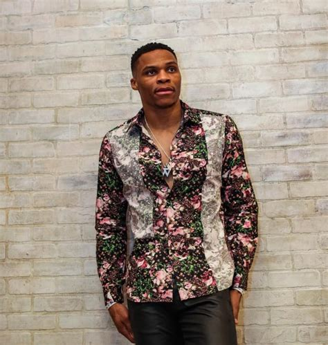 Russell Westbrook Wears Givenchy Multicolor Patchwork